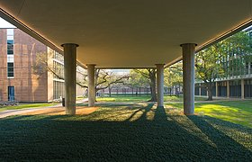 美国赖斯大学物理学院的布罗克曼厅