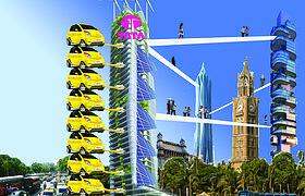 印度都市垂直发展停车场