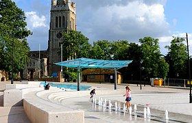 英国商业中心地公共广场