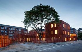 丹麦哥本哈根红砖区的红色幼儿园
