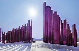 中国襄阳的景观雕塑