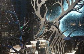 法国巴黎Hermes爱马仕圣诞橱窗设计
