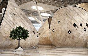 """阿塞拜疆巴库比纳机场新航站楼的""""木茧"""""""