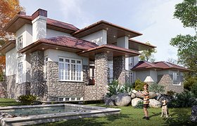 3d visualization of the country house