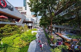 泰国曼谷的城市人行道