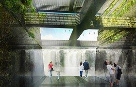 美国俄勒冈州威拉米特瀑布河道景观规划