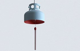利用废弃煤气罐所做的一款灯