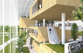 芬兰赫尔辛基中央图书馆竞赛方案之一