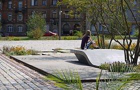 德国弗莱堡市扎哈伦广场