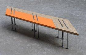 再生秸秆板组合式公共座椅