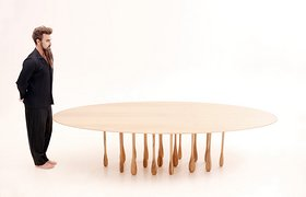Tables With Legs Like Rain Drops
