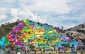 墨西哥palmitas小山村成了彩虹天堂