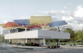 德绍包豪斯博物馆的多彩的风筝屋顶