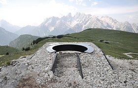 意大利白云石山脉的观景建筑