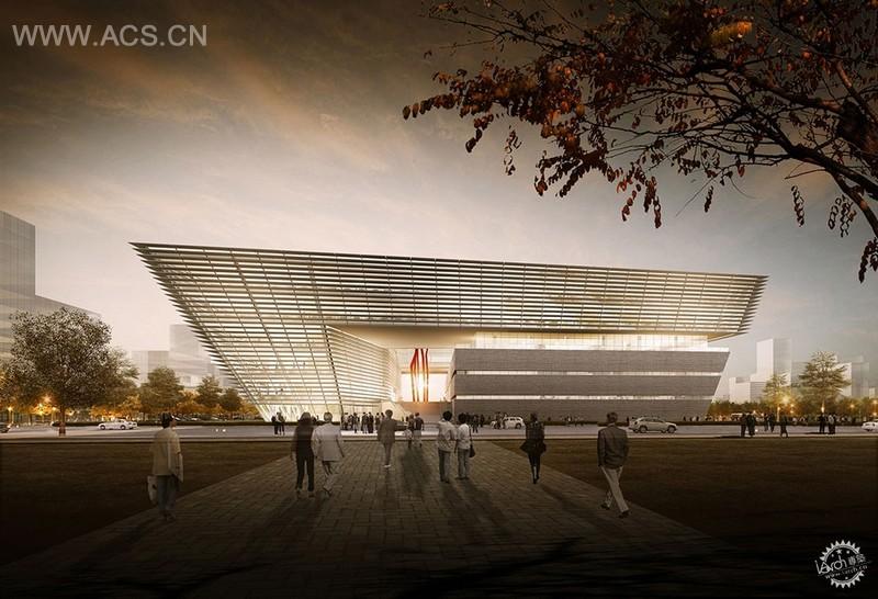 中国苏州新图书馆设计插图