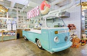 如此清爽而迷人的甜品店 一种颜色一块区域 纠结哪个美味