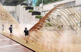 上海静安寺广场《韧山水》