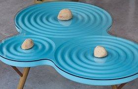 波浪一样的咖啡桌