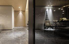 """物上空间设计丨150㎡ 现代时尚居住空间,演绎""""调剂""""生活"""