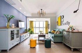 现代美式 三居室,清新优雅浪漫~ 