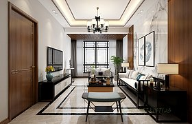 新中式客厅茶室卧室